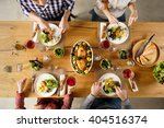 Top View Of Dining Table With...