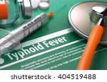 diagnosis   typhoid fever.... | Shutterstock . vector #404519488