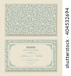 wedding invitation cards ... | Shutterstock .eps vector #404532694