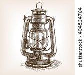 Vintage Lantern Sketch Style...