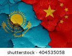 Flags Of Kazakhstan And China...