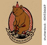 the circus bear on bicycle.... | Shutterstock .eps vector #404536669