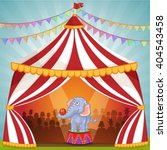 illustration of elephant in... | Shutterstock .eps vector #404543458