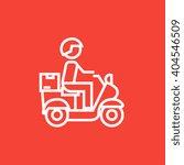 man carrying goods on bike line ... | Shutterstock .eps vector #404546509