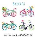 bicycles funny romantic set...   Shutterstock .eps vector #404548114