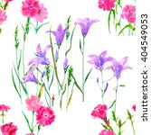 watercolor floral seamless... | Shutterstock . vector #404549053