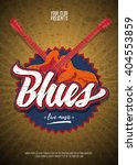 Blues Live Music Party Flyer...