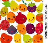 seamless pattern funny kawaii... | Shutterstock .eps vector #404554333