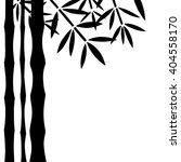 bamboo trees  leaves black... | Shutterstock .eps vector #404558170