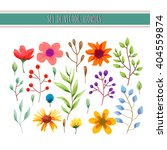 floral watercolor collection... | Shutterstock .eps vector #404559874