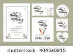 set of wedding cards in various ... | Shutterstock .eps vector #404560810
