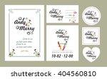 set of wedding cards in various ... | Shutterstock .eps vector #404560810