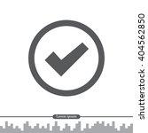 icon of check box  | Shutterstock .eps vector #404562850