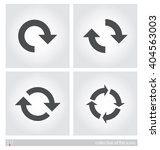 arrows. set of flat icons.... | Shutterstock .eps vector #404563003