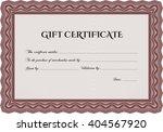 gift certificate template. easy ... | Shutterstock .eps vector #404567920