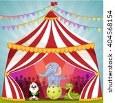 circus tent with animals | Shutterstock .eps vector #404568154