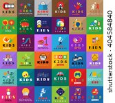 children icons set isolated on... | Shutterstock .eps vector #404584840