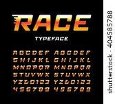 sport font. vector alphabet... | Shutterstock .eps vector #404585788