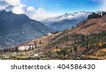 landscape of mountain and... | Shutterstock . vector #404586430