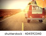 3d illustration van on a road... | Shutterstock . vector #404592340