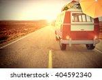 3d illustration van on a road... | Shutterstock . vector #404592340