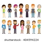 set of diverse vector people.... | Shutterstock .eps vector #404594224