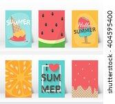 summer  holiday  vacation... | Shutterstock .eps vector #404595400