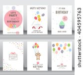 happy birthday  holiday ... | Shutterstock .eps vector #404595763