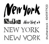 New York City Vector Lettering...