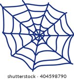 isolated blue spider web ...   Shutterstock .eps vector #404598790
