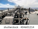 deck of a new oil tanker with... | Shutterstock . vector #404601214