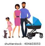 vector family portrait  | Shutterstock .eps vector #404603053