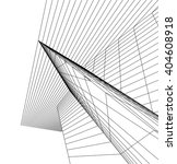 abstract architectural 3d... | Shutterstock .eps vector #404608918