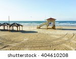 Lifeguard Station In Tel Aviv...