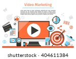 video and internet marketing.... | Shutterstock .eps vector #404611384