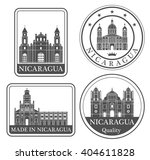 nicaragua. rubber and stamp | Shutterstock .eps vector #404611828