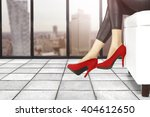 heels and legs and city... | Shutterstock . vector #404612650