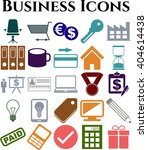 business icon set. 25 icons... | Shutterstock .eps vector #404614438