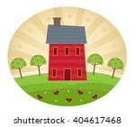 americana style home  ... | Shutterstock .eps vector #404617468