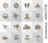 vector flat icon set   travel