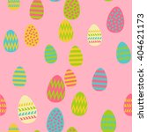 pattern of easter eggs | Shutterstock .eps vector #404621173