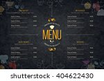 restaurant menu design. vector... | Shutterstock .eps vector #404622430