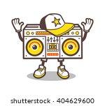 cartoon boom box character... | Shutterstock .eps vector #404629600