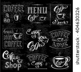 set of coffee labels on... | Shutterstock .eps vector #404630326