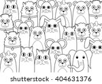 coloring page   animals | Shutterstock .eps vector #404631376