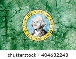 Usa And Washington State Flag...