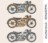 vintage motorcycle set graphic... | Shutterstock .eps vector #404640994
