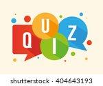quiz | Shutterstock .eps vector #404643193