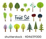 vector color forest set. part 1....   Shutterstock .eps vector #404659300