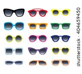 color glasses and sunglasses... | Shutterstock .eps vector #404659450